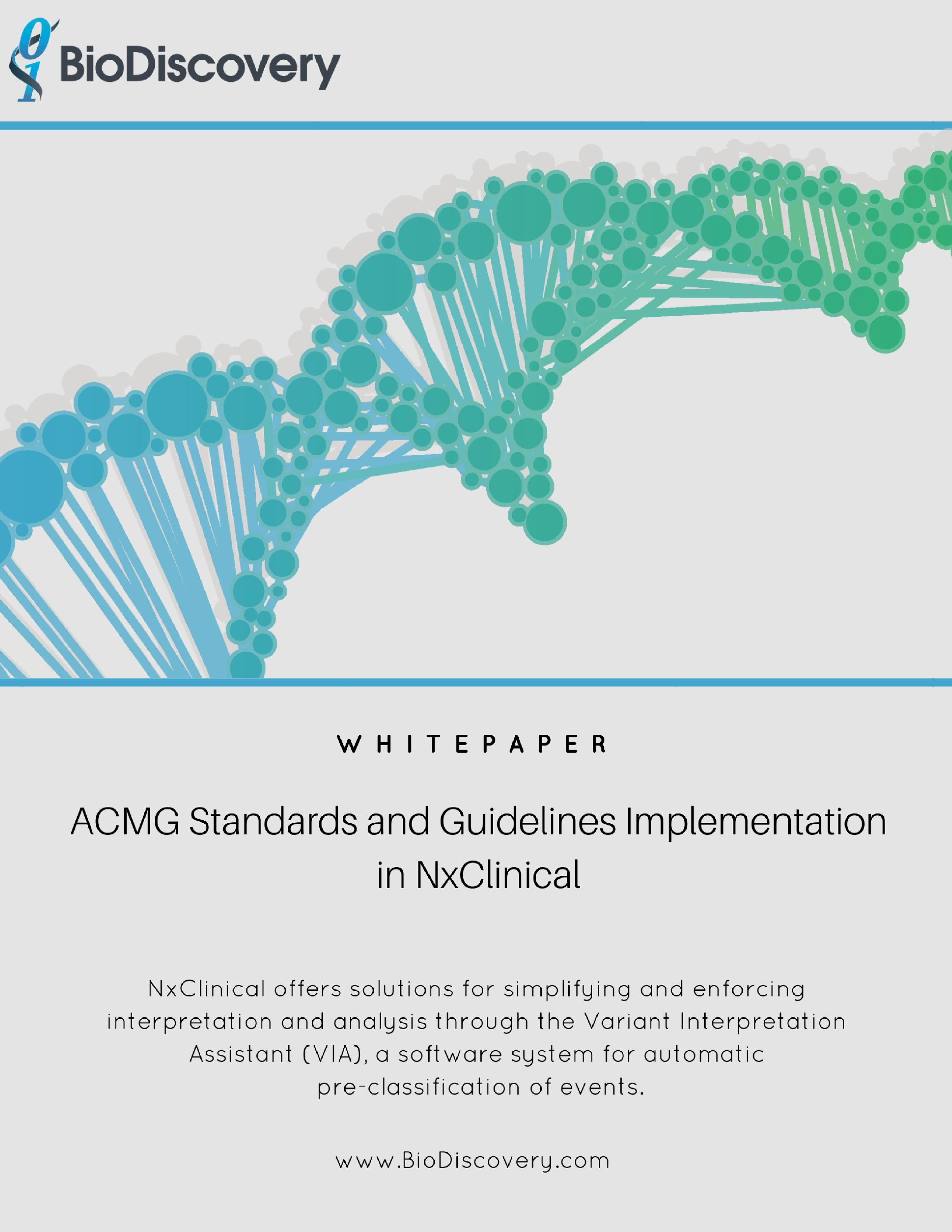 ACMG Standards and Guidelines Implementation in NxClinical_Whitepaper Cover Page