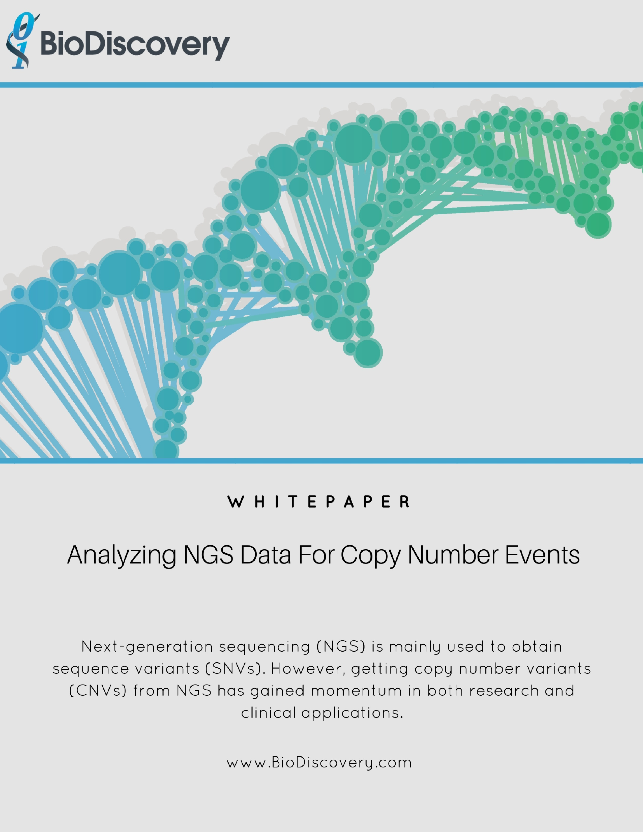 Analyzing NGS Data For Copy Number Events_Whitepaper Cover Page